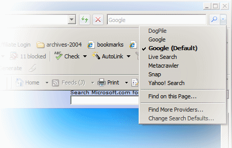 IE7 Add A Search Engine feature