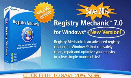 NEW VERSION 7.0! REGISTRY MECHANIC - SAVE 20%