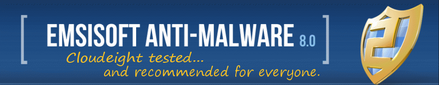 Cloudeight's #1 choice for antimalware protection and detcetion