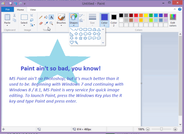 How to make a eraser bigger in ms paint on windows 7 laptop.