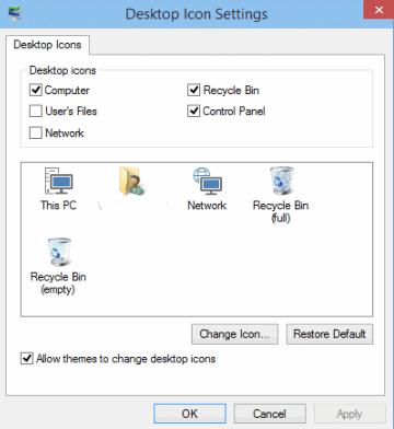 Show Computer icon on Windows 8x desktop