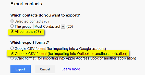 Export Your Gmail Contacts – Cloudeight InfoAve