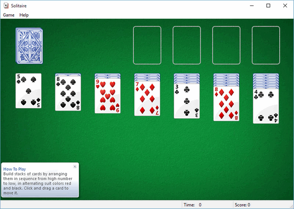 spider solitaire game  for windows 7 free