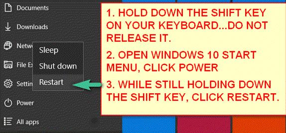 boot key windows 10