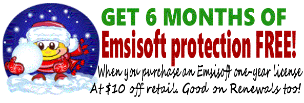 Emsisoft 18-month keys - 6 months FREE