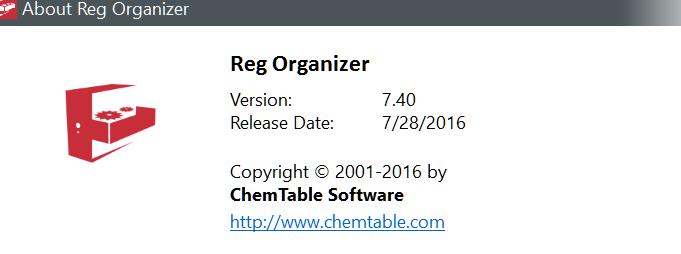 Reg Organizer 7.40