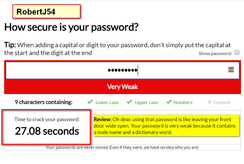 Fun With Passwords – Cloudeight InfoAve