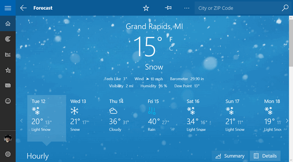 Weather or not you like windows 10 apps cloudeight infoave for Best windows for cold climates