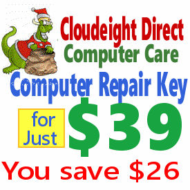 Cloudeight Direct Computer Care Repair Key for less than half price