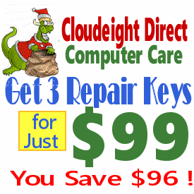 Cloudeight Direct Repair Tickets 3 for $99