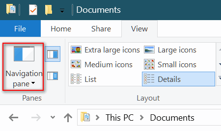 File Explorer Home