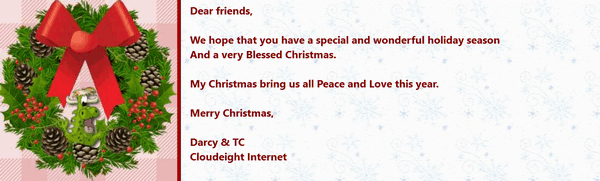 Cloudeight Stationery for Thunderbird -Christmastime