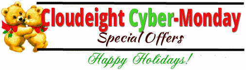Cloudeight Cyber Monday Specials