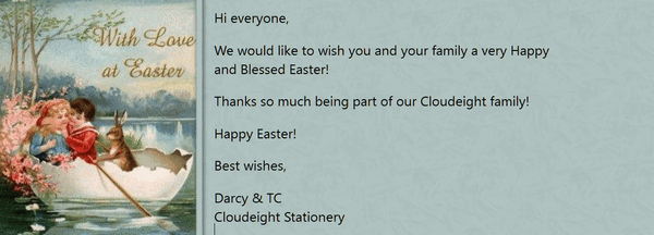 Cloudeight Stationery for Thunderbird - HAPPY EASTER