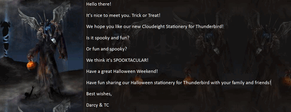 Cloudeight Halloween Stationery for Thunderbird