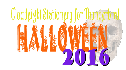 Halloween 2016 - Cloudeight Stationery for Thunderbird