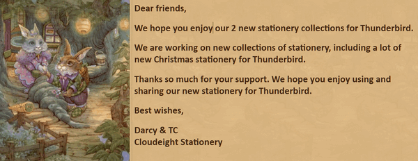Cloudeight Stationery for Thunderbird - The World of James Browne