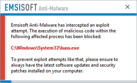 Emsisoft protects you from ransomware attacks like this one.