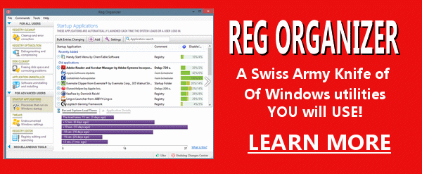 Reg Organizer - a Swiss Army knife of Windows Utilities - Cloudeight Endorsed