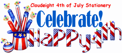Celebrate! Cloudeight stationery for the 4th of July