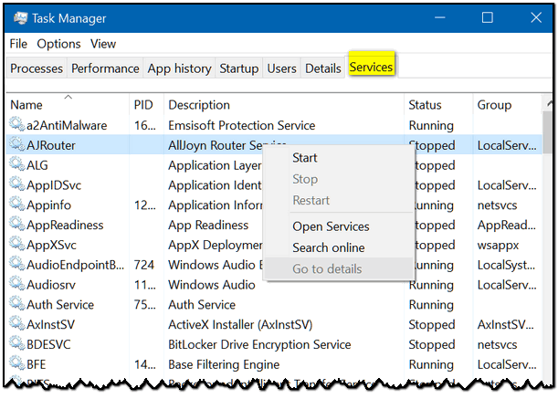 another thing you can do with task manager is view a list of processes running on your system you can sort the list by name by cpu or ram usage and more