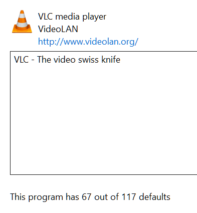 how to make vlc the default player in windows 10