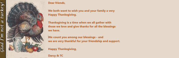 Cloudeight Stationery for Thunderbird -Vintage Thanksgiving