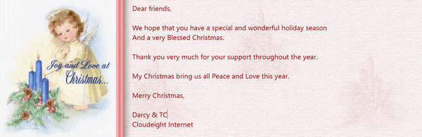 Cloudeight Stationery for Thunderbird -Christmas Wishes