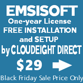 Cloudeight Black Friday Special- Emsisoft with FREE installation