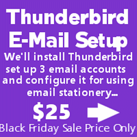 Thunderbird install & configuration by Cloudeight Direct