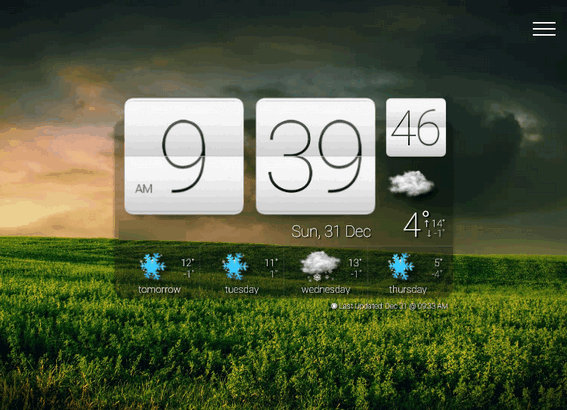 Sense Clock - Cloudeight Freeware Pick