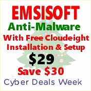 Cloudeight Cyber Monday Deals Week ... Emsisoft with FREE installation