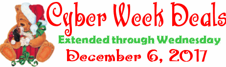 Cloudeight Cyber Week Sale extended through Wednesday December 6, 2017