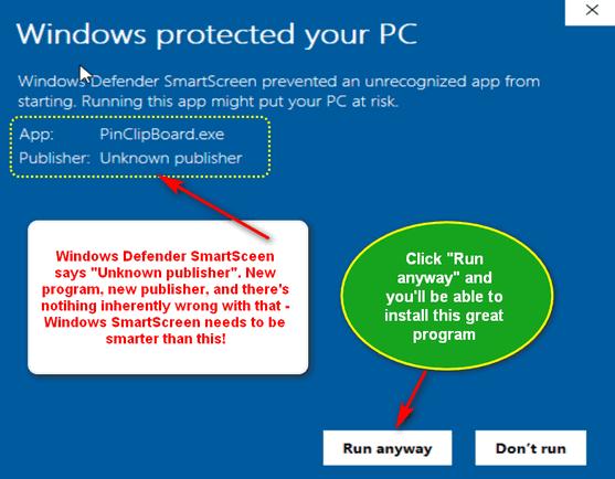 Windows Defender's SmartScreen being dumb - Cloudeight InfoAve