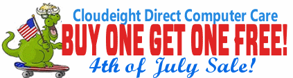Cloudeight Direct Computer Care 4th of July BOGO Sale