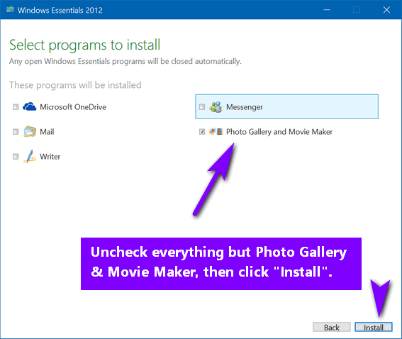 photo gallery updates windows 10