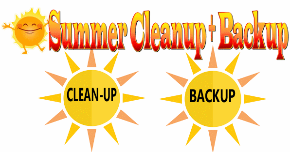 Cloudeight 2018 Summer Cleanup & Backup