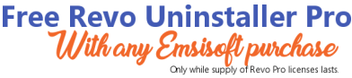 Get Revo Uninstaller Pro 3 FREE with any Emsisoft Purchase!