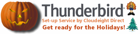 Our Thunderbird Setup Service is On Sale. Cloudeight Internet