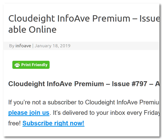Cloudeight InfoAve Premium - A weekly computer publication