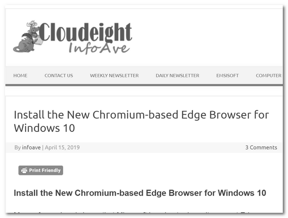 Cloudeight InfoAve Windows 10 Tips