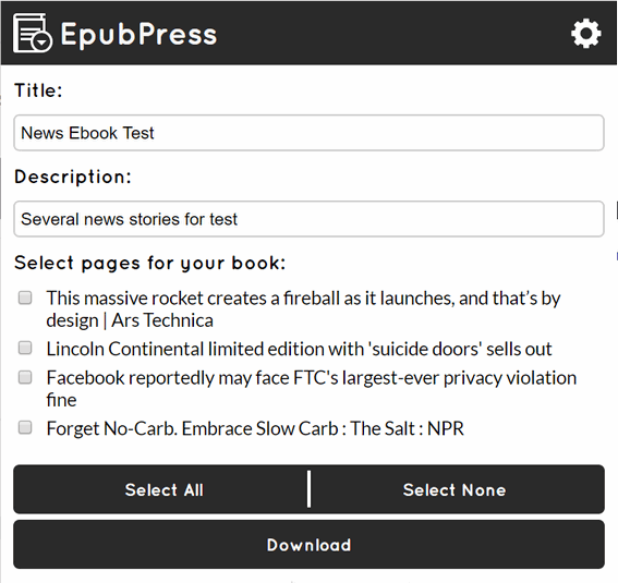 EpubPress - A Cloudeight Freeware Pick