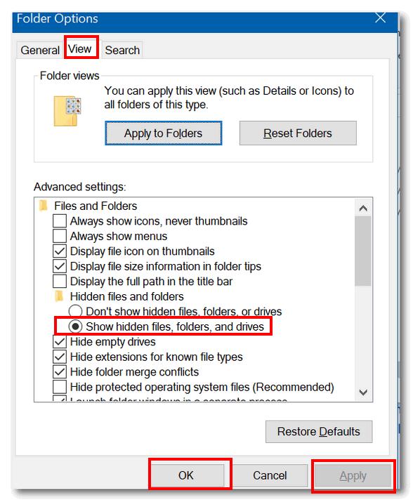 Folder Options - Cloudeight Windows tips
