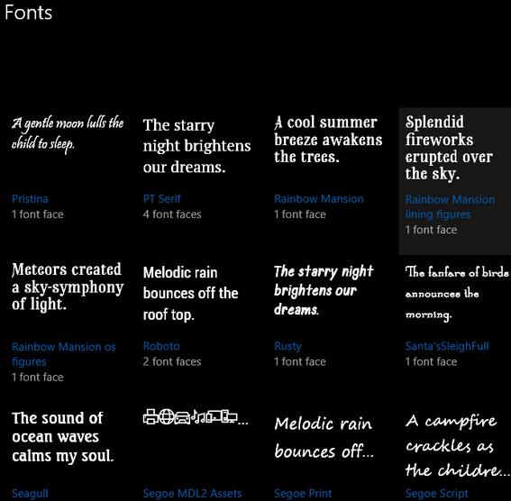 Windows 10 Font Viewer - Cloudeight InfoAve