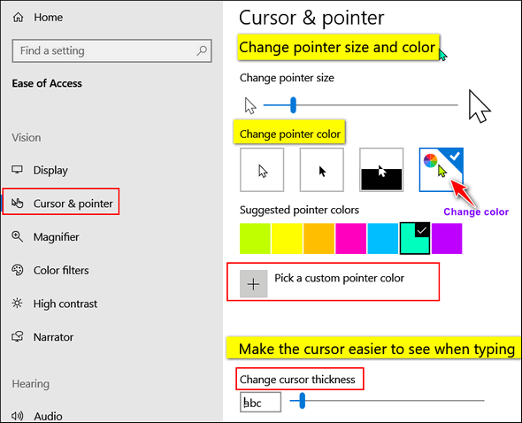 Change Your Mouse Pointer Size and Color – Cloudeight InfoAve