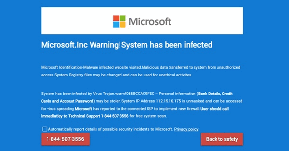 Cloudeight Internet - Watch out for tech support scams.