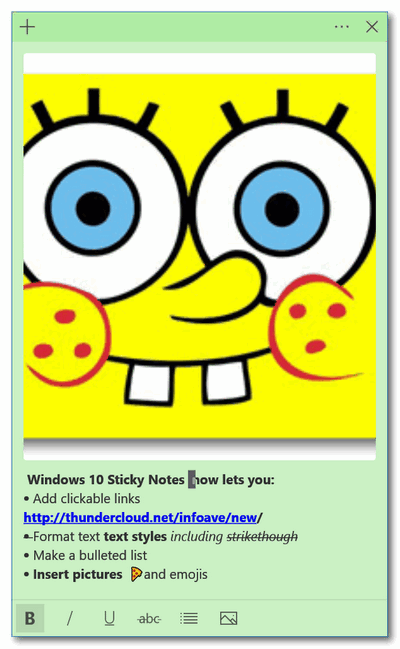 Cloudeight Windows 10 Tips - Sticky Notes