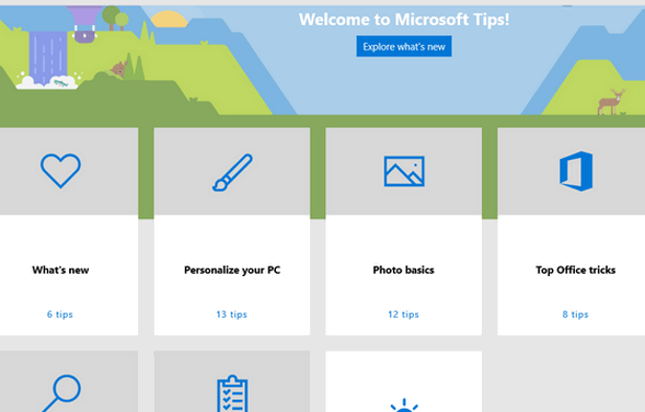 Cloudeight Windows 10 Tips - The Tip App on Windows 10 version 1903