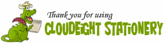 Thank you for using cloudeight stationery