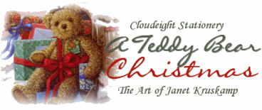 A Teddy Bear Christmas - The Art of Janet Kruskamp - Cloudeight Stationery